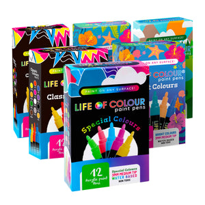 Life of Colour | Shop: Super Six Bundle - 6 Sets of Paint Pens | Australia and New Zealand