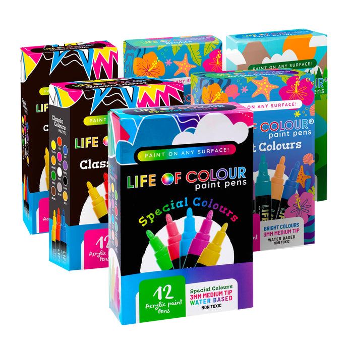 Super Six Bundle - 6 Sets of Paint Pens