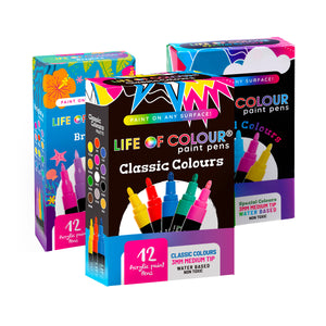 Life of Colour | Shop: Triple Whammy Bundle - Any 3 Paint Pens Sets | Australia and New Zealand