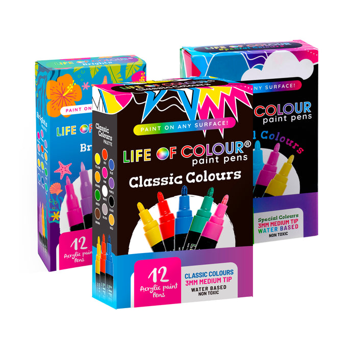 Triple Whammy Bundle - Any 3 Paint Pens Sets