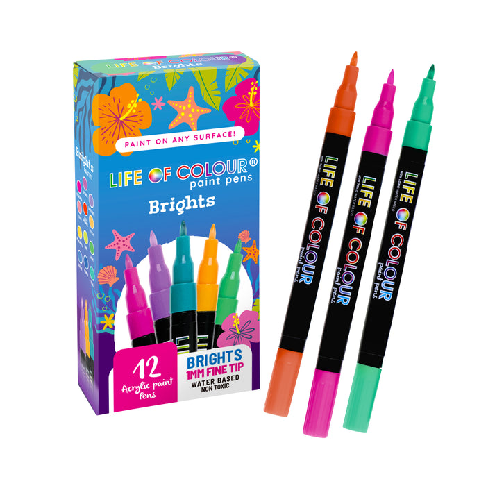 Bright Colours Paint Pens - Fine Tip