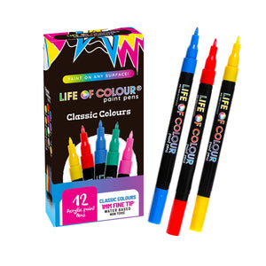 Life of Colour | Shop: Classic Colour Paint Pens - Fine Tip (1mm) | Australia and New Zealand