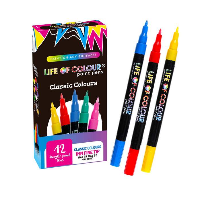 Classic Colour Paint Pens - Fine Tip (1mm)