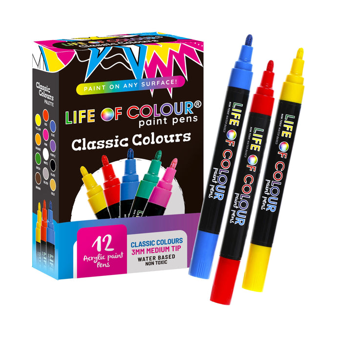 Classic Colour Paint Pens - Medium Tip