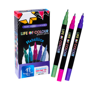Life of Colour | Shop: Metallic paint pens - Fine Tip | Australia and New Zealand