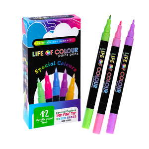 "Life of Colour | Shop: ""Special Colours"" Paint Pens - Fine Tip (1mm) 