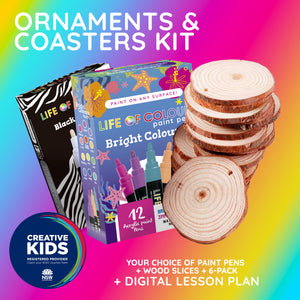 Life of Colour | Shop: Creative Kids Ornament and Coasters Kit | Australia and New Zealand