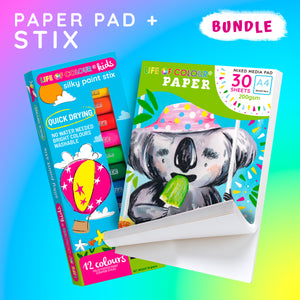 Life of Colour | Shop: A4 Paper Pad and Silky Paint Stix Bundle | Australia and New Zealand