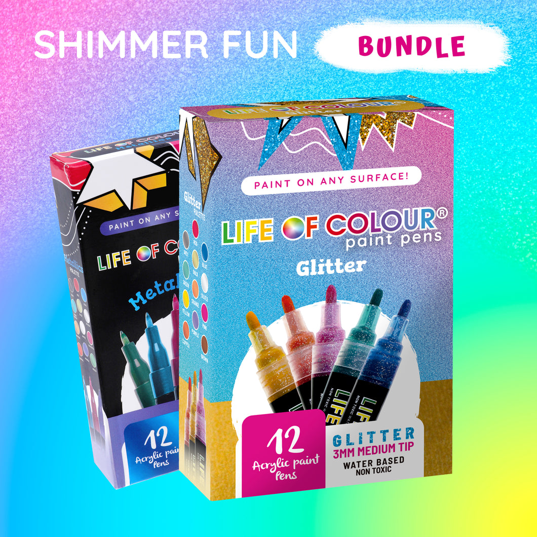 Shop Shimmer Fun Bundle - Glitter and Metallic Paint Pens