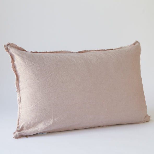 Linen Bedhead Cushion in Rosewater