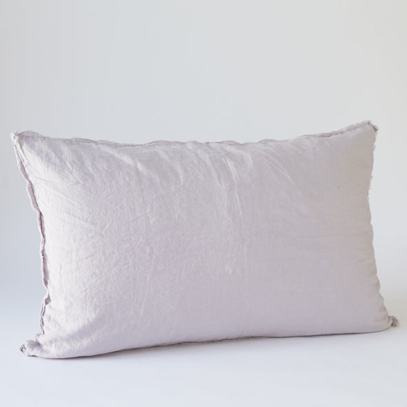LInen Bedhead Cushion in Lilac