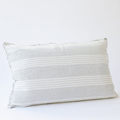 Linen Bedhead Cushion in French Stripe