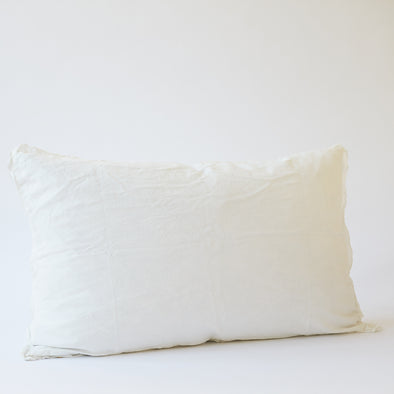 Linen Bedhead Cushion in Antique White
