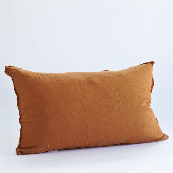 Linen Bedhead Cushion in Clay