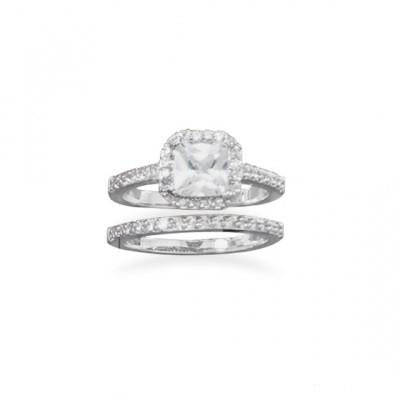 Two CZ Ring Set