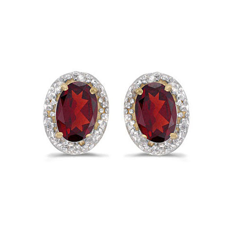 14k Yellow Gold Diamond and Ruby Earrings 1.20ct
