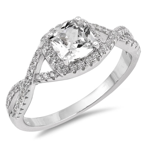 Sterling Silver Cubic Zirconia Stylish Ring