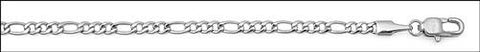 Men's Stainless Steel Figaro Chain Necklace (3 mm)