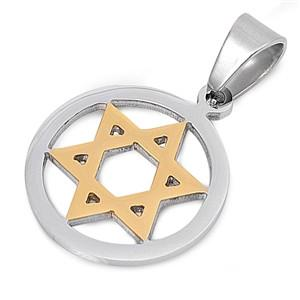 Star of David Steel Pendant