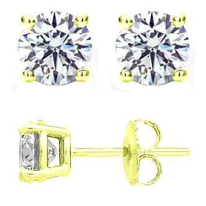 0.33 Ct Round Diamond Stud Earrings