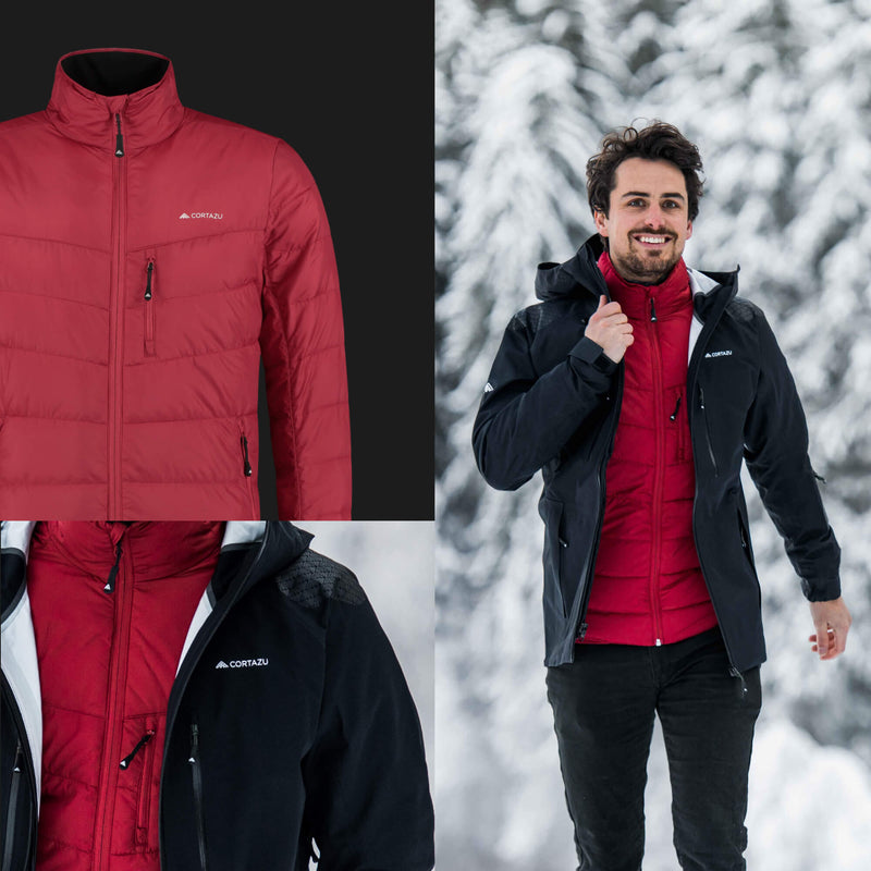 Mountain Mid-layer Zip-in Chili Red | Mens