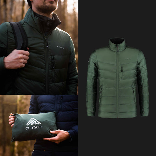 Mountain Mid-layer Zip-in Dark Green | Mens
