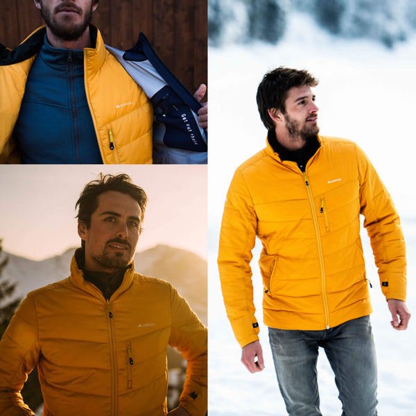 Mountain Mid-layer Zip-in Yellow | Mens