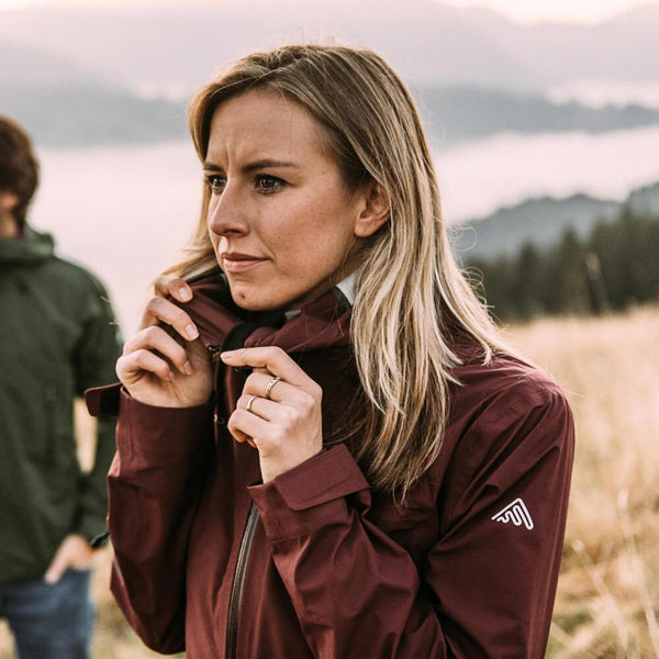 Hard Shell (All Season) Burgundy | Womens