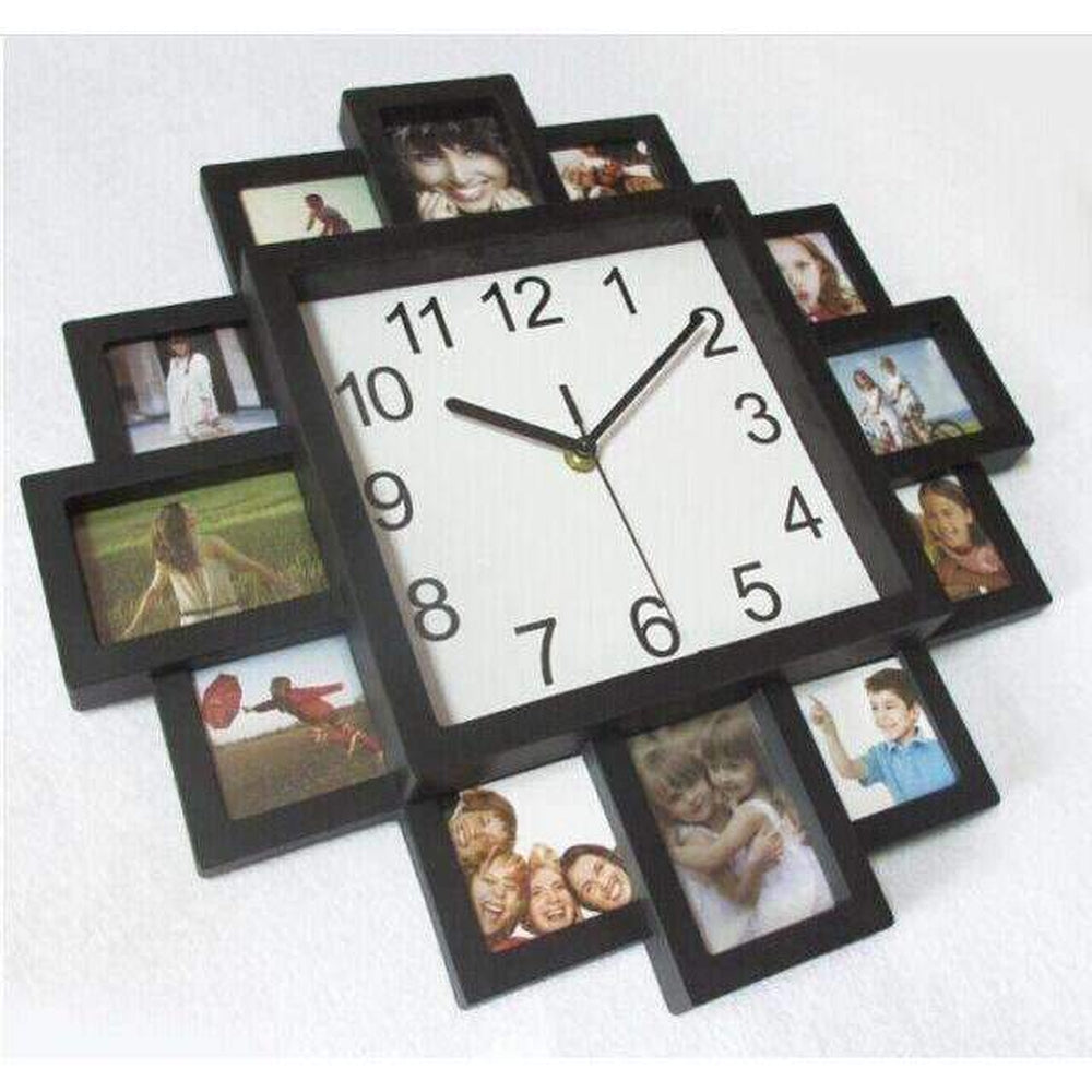 Wall clock with photo frame image collections home wall wall clock with photo frame image collections home wall 2017 new diy wall clock modern design amipublicfo Gallery
