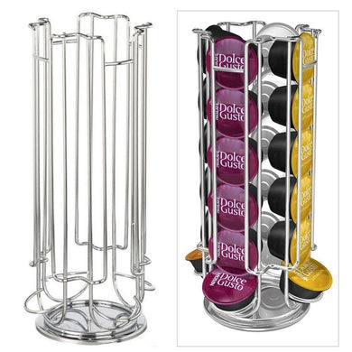 Top Home Solutions Revolving Rotating 24 Capsule Coffee Pod Holder Tower Stand Rack For Dolce Gusto-Clubspot Supplies