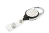 Rel Retract-A-Badge Carabiner I.D. Badge Holder - White with Rose Gold Dots