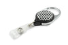 Rel Retract-A-Badge Carabiner I.D. Badge Holder - White With Black Dots