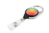 Rel Retract-A-Badge Carabiner I.D. Badge Holder - Large Rainbow Crystals