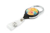 Rel Retract-A-Badge Carabiner I.D. Badge Holder - Small Rainbow Crystals