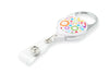 Rel Retract-A-Badge Carabiner I.D. Badge Holder - Rainbow Circles
