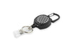 Rel Amigo Retractable I.D. Badge Reel & Key Holder - Black With White Dots