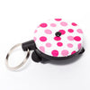 The Rel Original Retractable Key Reel with Belt Clip The Polka