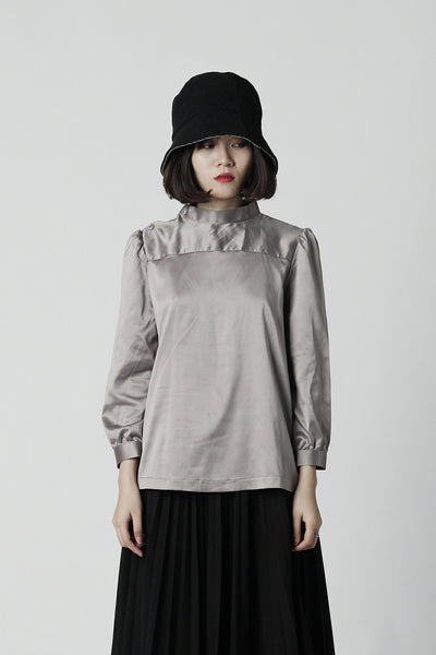 Sleek Silk Turtleneck Shirt