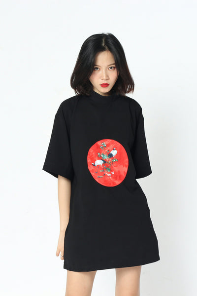 Konotori Brocade Turtleneck Shirt