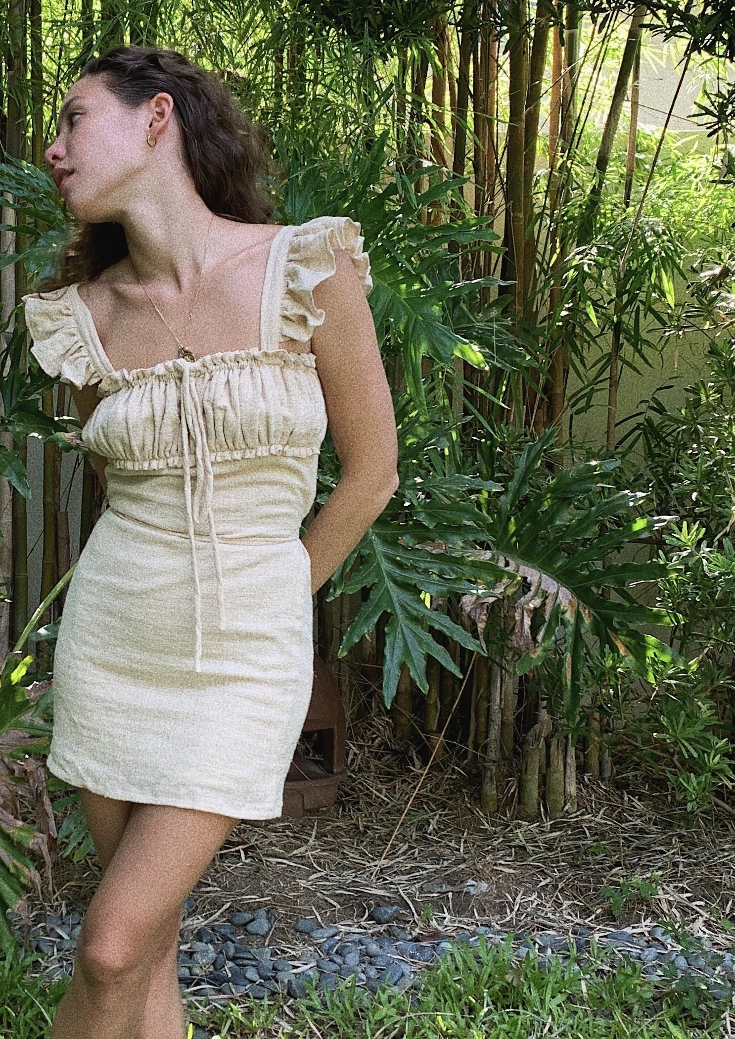 Emily Dress Bleached Sand