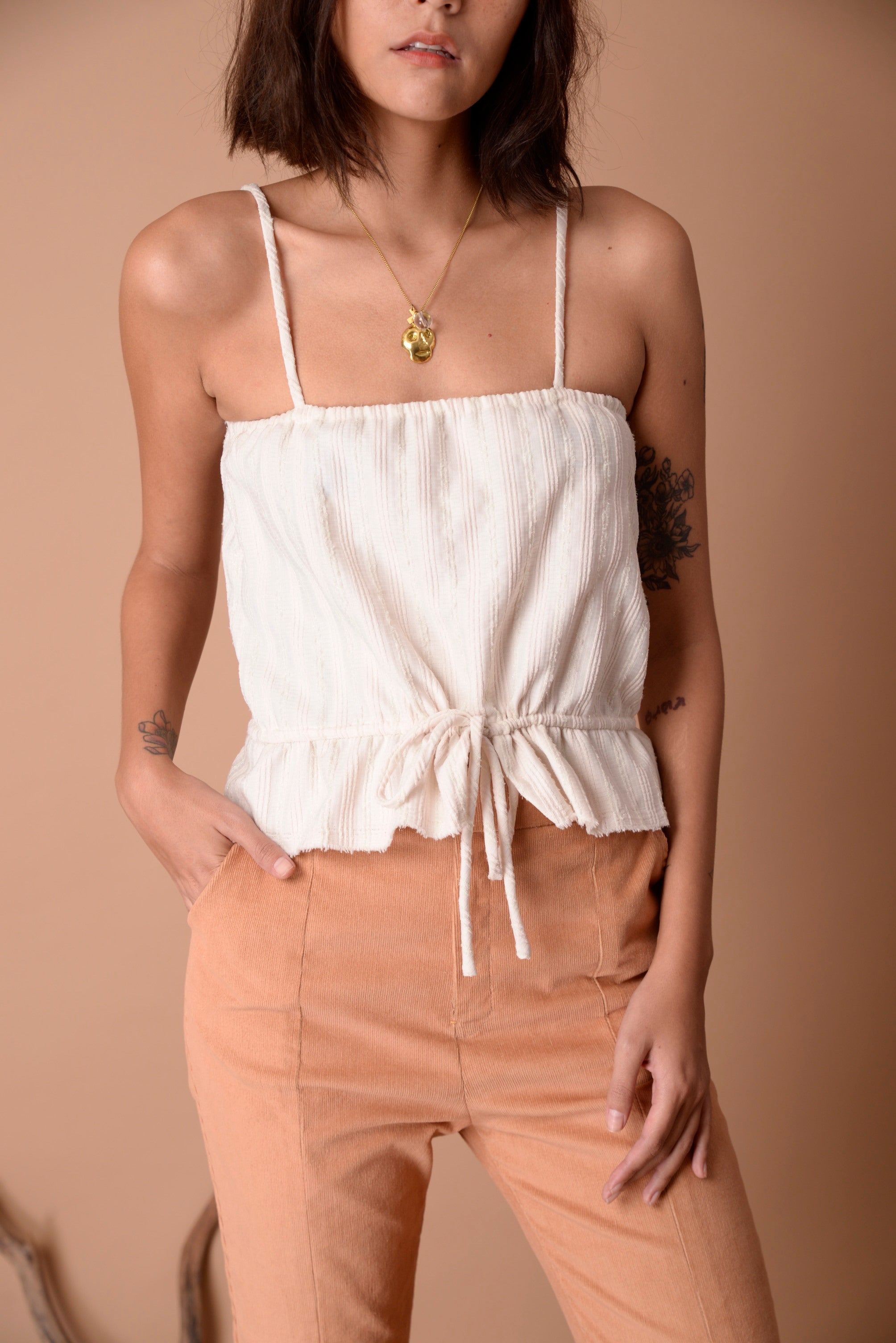 Abby Top Pearl Sand