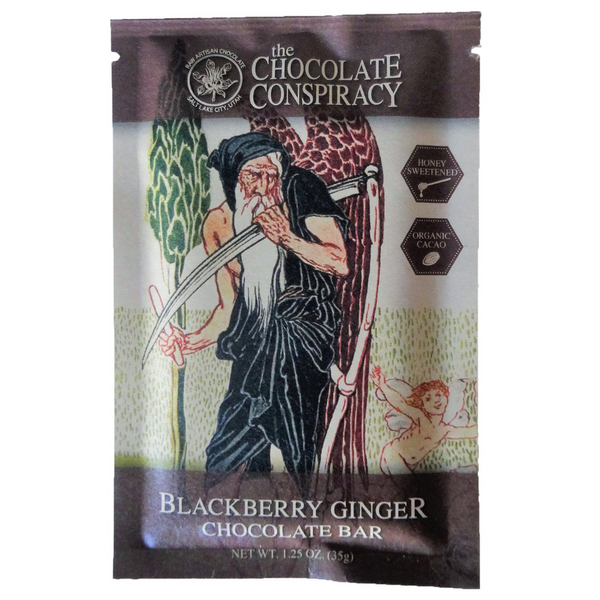 Blackberry Ginger Bar  73% cacao