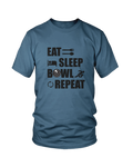 Eat, sleep, BOWL, repeat- MENS T-SHIRT Colours