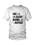 Eat, sleep, BOWL, repeat - MEN'S T-SHIRT White