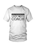 Self nominated LAWN BOWLS COACH - MEN'S T-SHIRT White