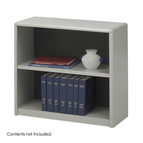 Safco 7170GR 2-Shelf ValueMate® Economy Bookcase - Peazz Furniture