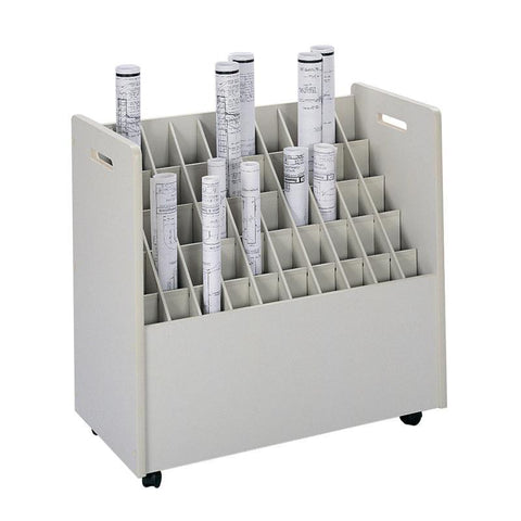 Safco 3083 Mobile Roll File, 50 Compartment - Safcomart