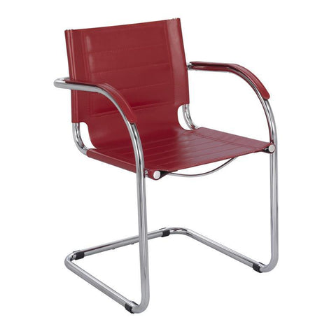 Safco 3457RD Flaunt™ Guest Chair Red Leather - Peazz Furniture