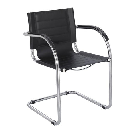 Safco 3457BL Flaunt™ Guest Chair Black Leather - Peazz Furniture