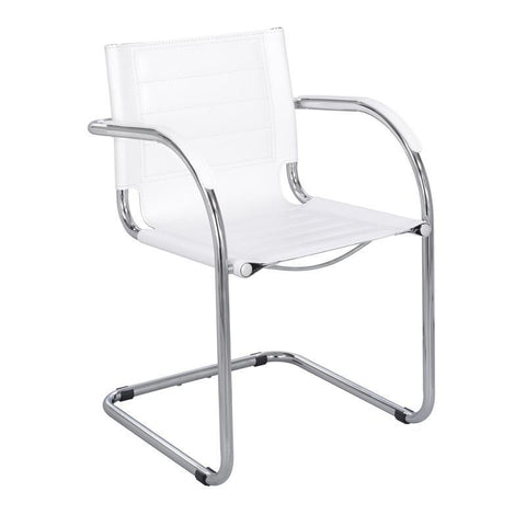 Safco 3457WH Flaunt™ Guest Chair White Leather - Peazz Furniture